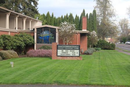 Zion Lutheran Church Corvallis Front